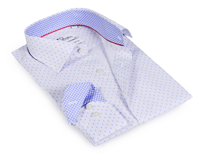 Photo of Finollo Contemporary Dress Shirts Todd Button-Up Shirt // White + Light Blue (US: 15.5R) by Touch Of Modern