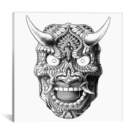 "Japanese Demon Mask II // Bioworkz (18""W x 18""H x 0.75""D)"