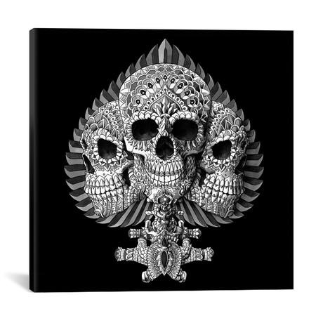 """Skull Spade Black (18""""W x 18""""H x 0.75""""D)"""