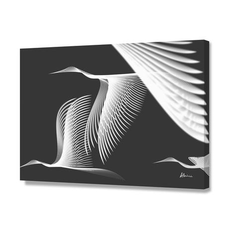 Cranes BW // Canvas