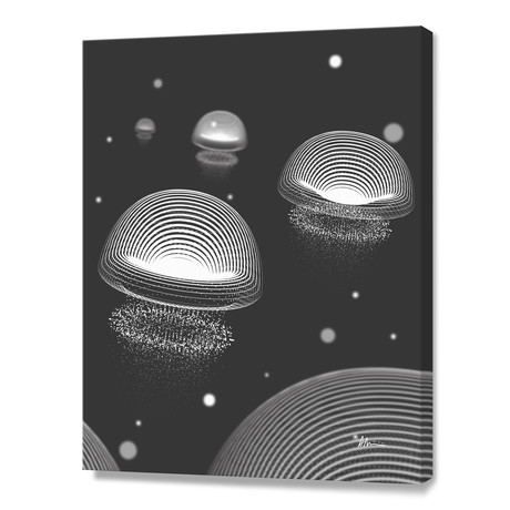 Jellyfishes BW // Canvas