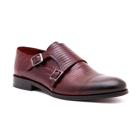 Damat Textured Double Monkstrap // Bordeaux (Euro: 39)