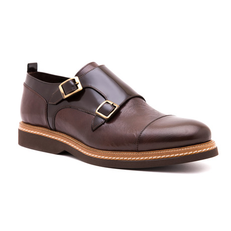 Damat Cap-Toe Double Monkstrap // Brown (Euro: 39)