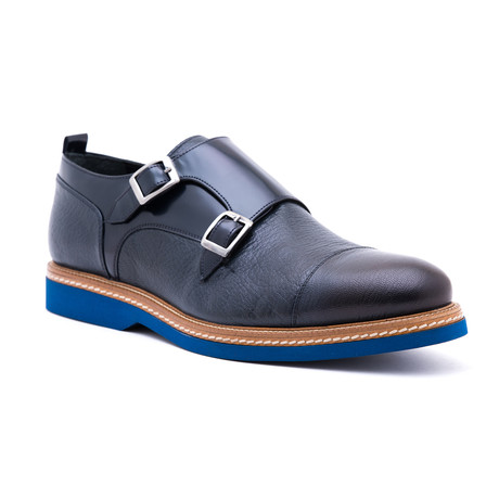 Damat Cap-Toe Double Monkstrap // Navy (Euro: 39)