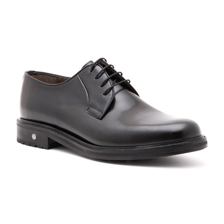 Damat Polished Plain Toe Derby // Black (Euro: 39)