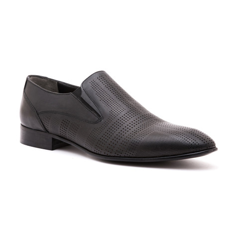 Perforated Slip-On // Black