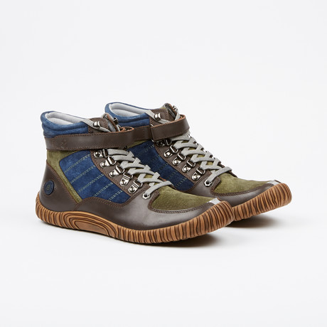Dram High Top Sneakers // Olive + Multi