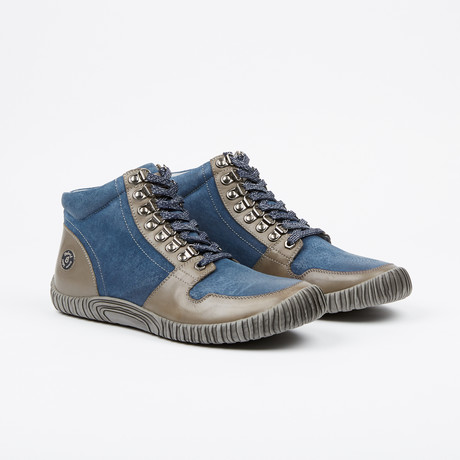 2.0 Maison High-Top Sneaker // Navy/Grey