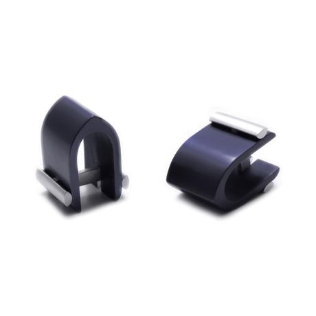 Ogive Cuff Links (Charcoal)