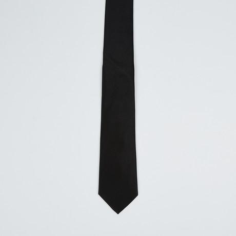Paolo Lercara // Skinny Silk Tie // Black