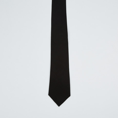 Paolo Lercara // Wide Silk Tie // Black