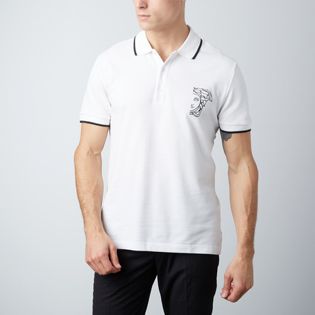 Medusa Polo Shirt // White (S)