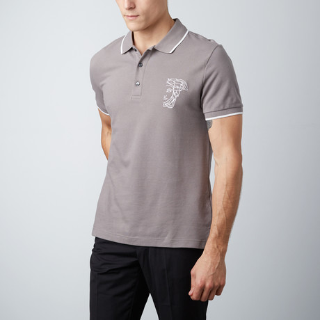 Medusa Polo Shirt // Gray (S)