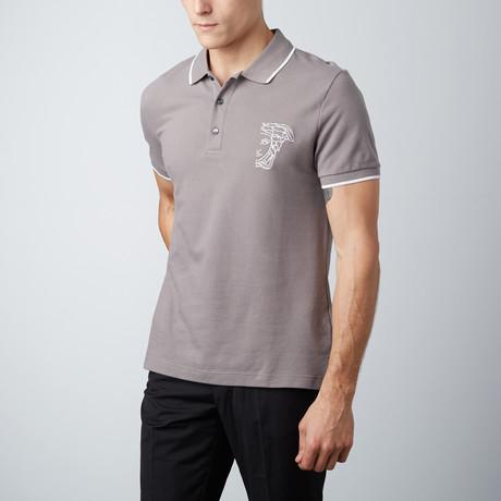 Medusa Polo Shirt // Gray (S)