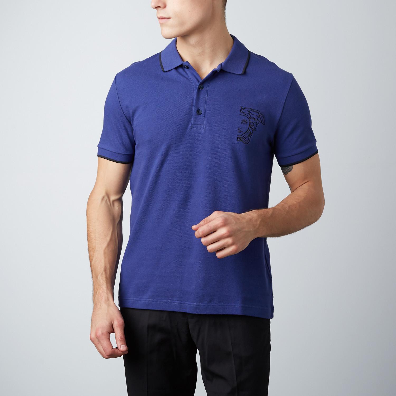 3e88c458 Medusa Polo Shirt // Blue