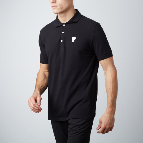 Patch Logo Polo // Black (S)