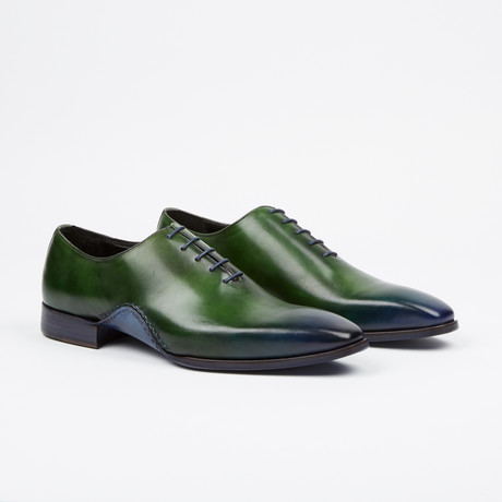 Stitched Oxford // Green + Blue (US: 7)