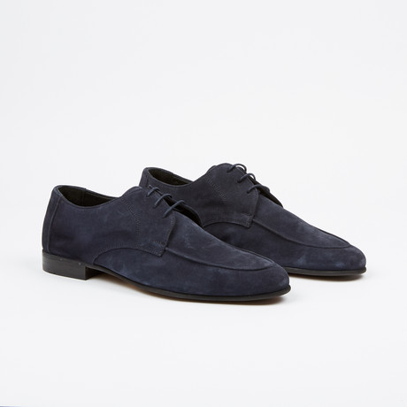 Suede Apron Toe Derby // Navy (US: 7)