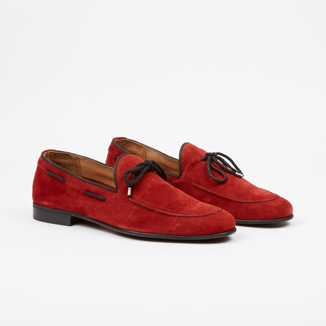 Suede Tie Loafer // Cherry (US: 7)