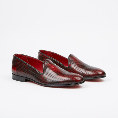 Textured Loafer // Burgundy