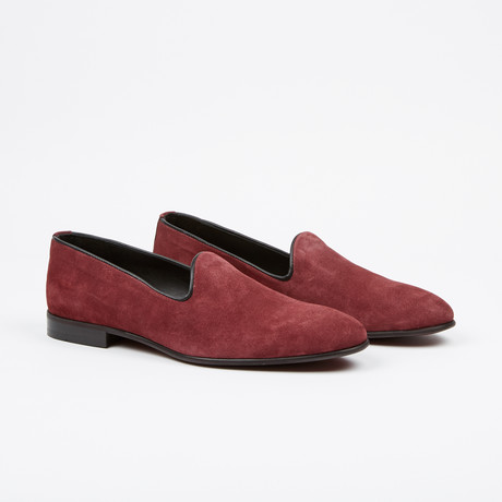 Suede Loafer // Burgundy (US: 7)