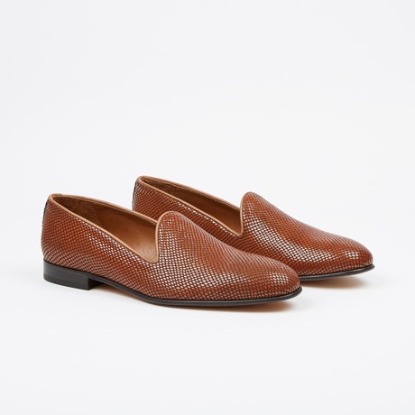 Textured Loafer // Cognac