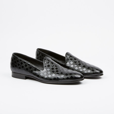 Checkered Printed Loafer // Black (US: 7)