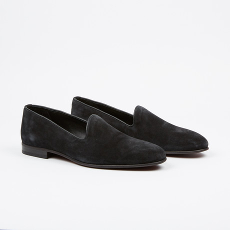 Suede Loafer // Black (US: 7)