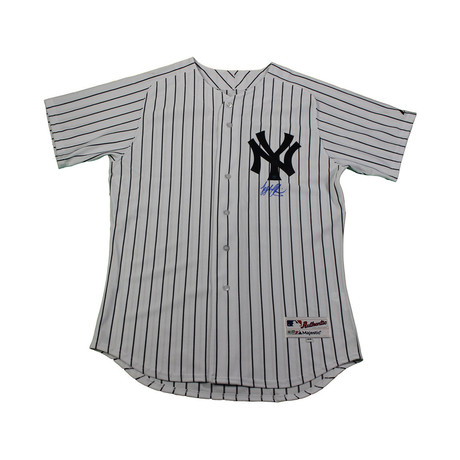 Tyler Austin Signed Authentic NY Yankees Pinstripe Jersey