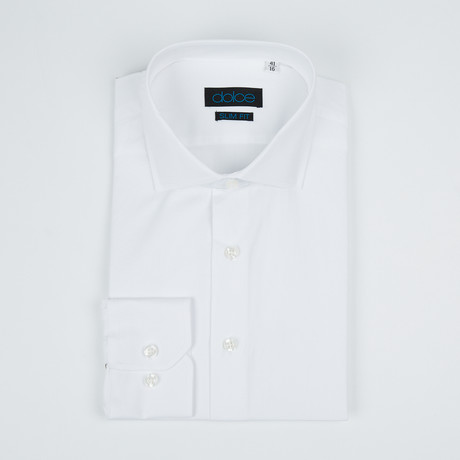 Bella Vita // Slim Fit Button-Up Shirt // White (US: 15R)