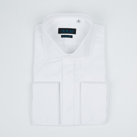 Bella Vita // Slim Fit French Cuff Button-Up Shirt // White (US: 15R)