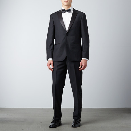Bella Vita // Slim Fit Notch Lapel Tuxedo // Black (US: 36S)