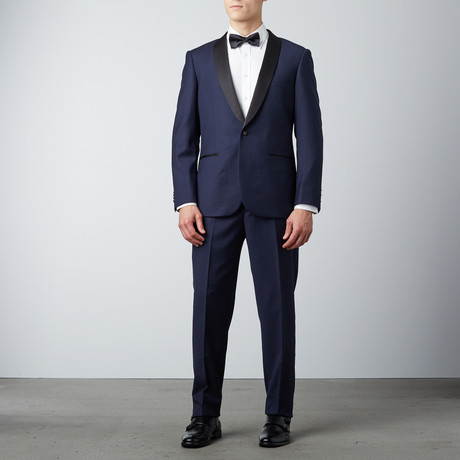 Slim Fit Shawl Lapel Tuxedo // Navy (US: 36S)