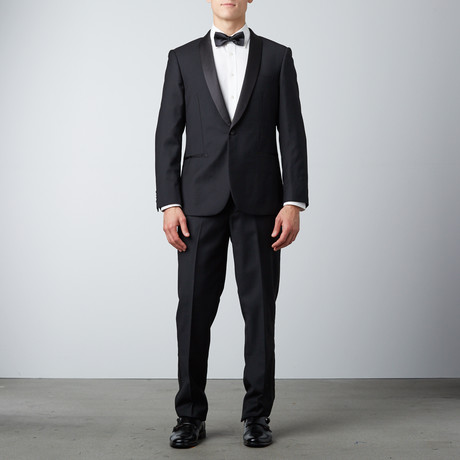 Bella Vita // Slim Fit Shawl Lapel Tuxedo // Black (US: 38R)