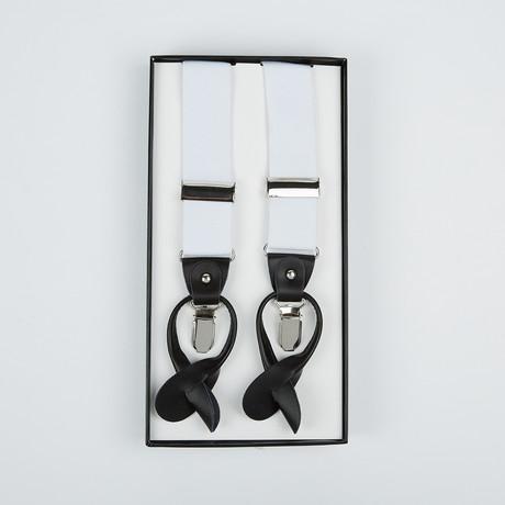 Paolo Lercara // Suspenders // White