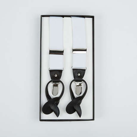 Paolo Lercara // Suspenders // White