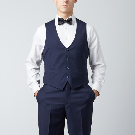 Paolo Lercara // Low Cut Vest // Navy