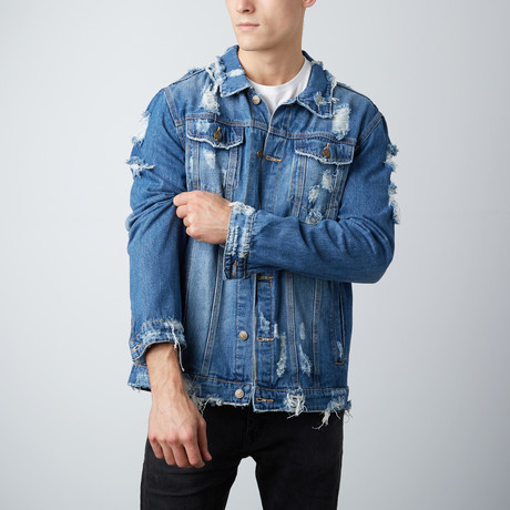 Distressed Denim Jacket // Indigo (S)