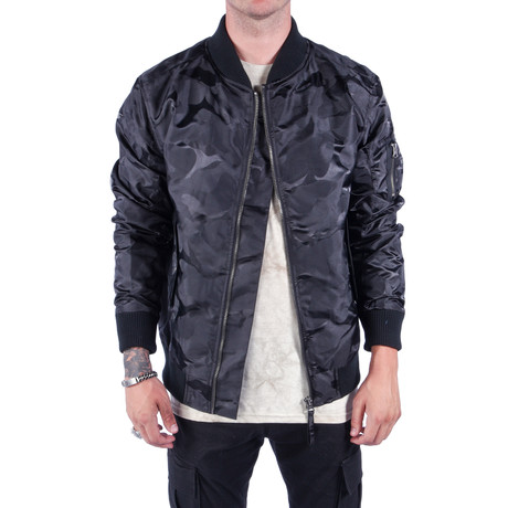 Tonal Fatigue Bomber Jacket // Black (S)