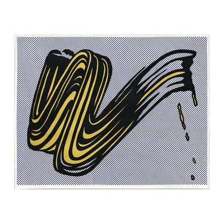 Roy Lichtenstein // Brushstroke // 1965