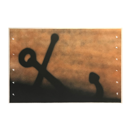 Ed Ruscha // Anchor in Sand (Paris Review) // 1991