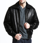 Simple Bomber Jacket // Black (L)