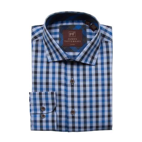 Harrow Spread Collar Button-Up Shirt // Blue