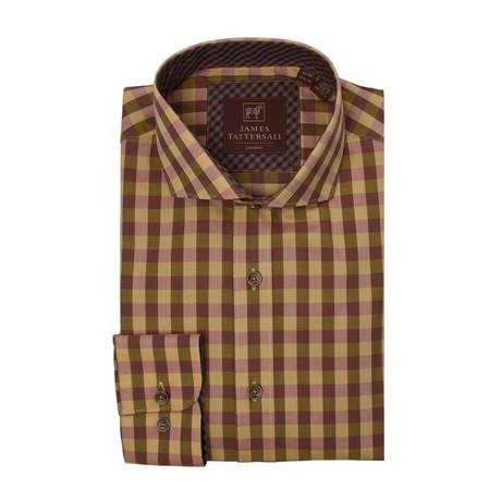 Callington Cutaway Collar Button-Up Shirt // Mustard