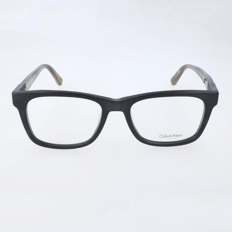 Gerry Thick Rim Rectangular Frame // Black