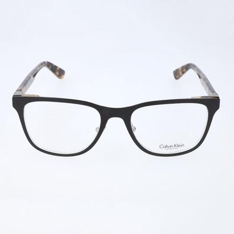 Carmichael Flat Rectangular Frame // Black