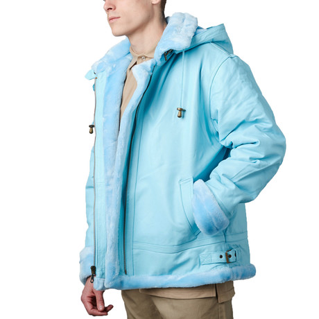 B3 Bomber with Detachable Hood // S. Blue