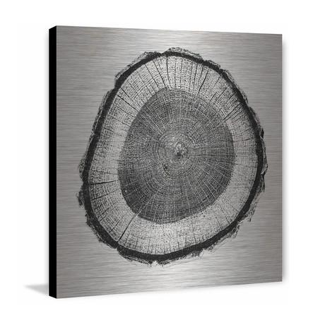 Inner Tree Painting Print // Brushed Aluminum