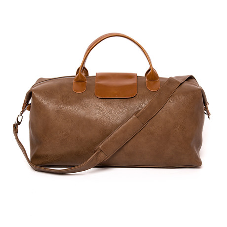 Alpha Leather Duffel // Chocolate Brown