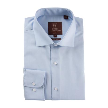 Long-Sleeve Non-Iron Pinpoint Ox Modern Fit Dress Shirt // Blue